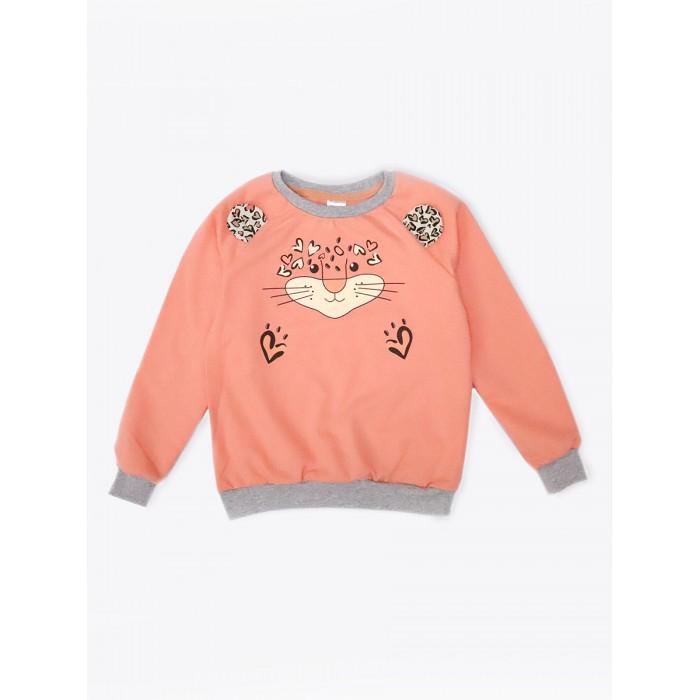 КотМарКот Свитшот для девочки Wild cat 8250629