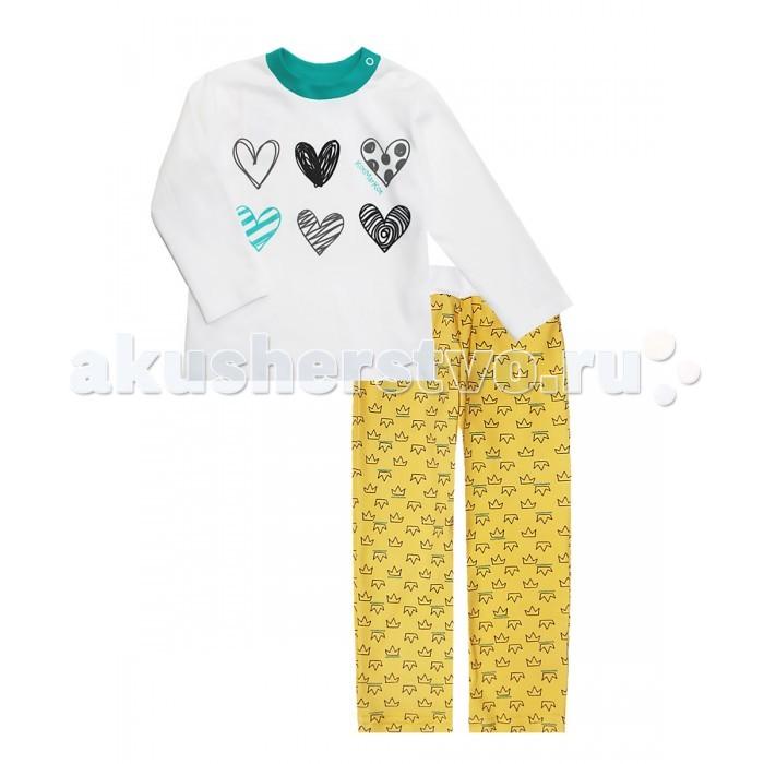 Пижамы и ночные сорочки КотМарКот Пижама (свитшот и штанишки) Корона 16574 ночные сорочки и рубашки