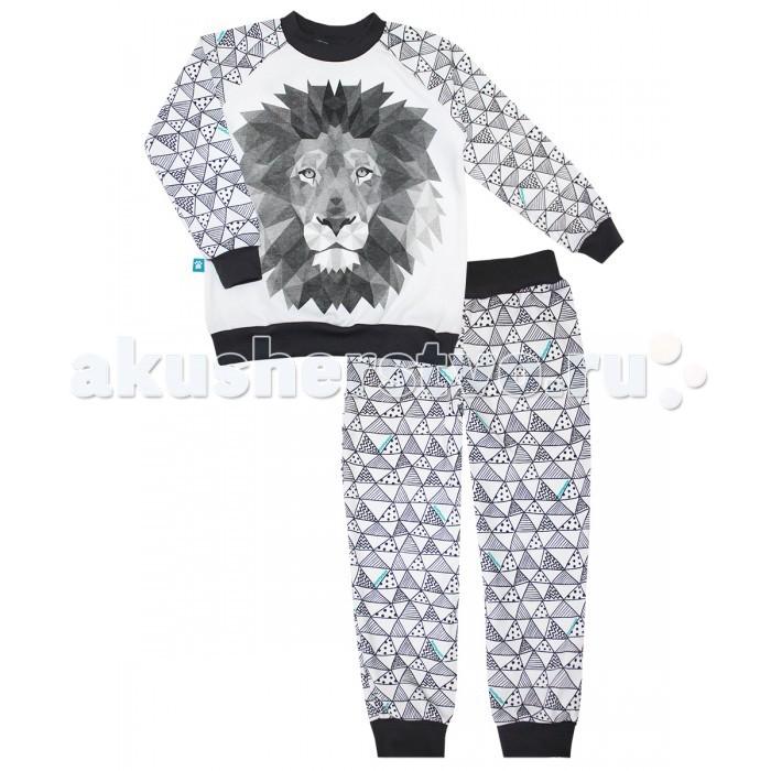 Пижамы и ночные сорочки КотМарКот Пижама (свитшот и штанишки на манжетах) Геометрия 16573 брюки котмаркот штанишки сердечко