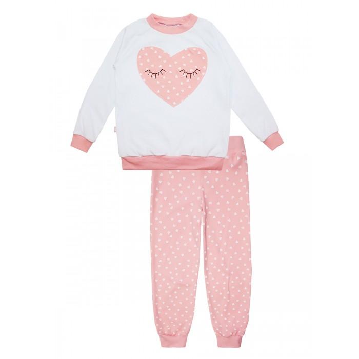 Пижамы и ночные сорочки КотМарКот Пижама из свитшота и штанишек на манжетах Сердечки 16552 ночные сорочки и рубашки