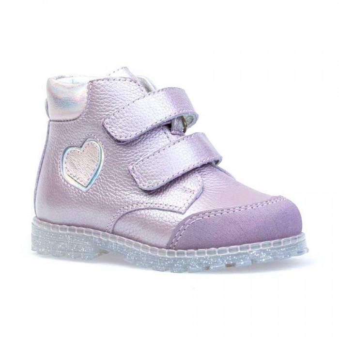 Котофей Ботинки для девочки с сердечком  - купить со скидкой