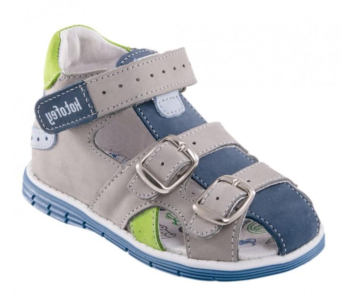 Котофей Сандалии для мальчика 222069Босоножки и сандалии<br>Котофей Сандалии для мальчика 222069-21 Модель для мальчика с закрытой носочной частью и высоким жестким задником отвечает последним тенденциям европейской моды.   Союзка представлена двумя широкими ремнями на пряжках. Благодаря этому модель имеет хорошую раскрываемость в носочной части и подходит на ножку с любой полнотой.