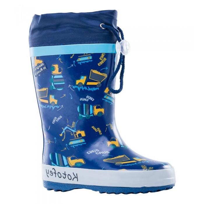 Купить Резиновая обувь, Котофей Сапоги резиновые для мальчика 366165-11