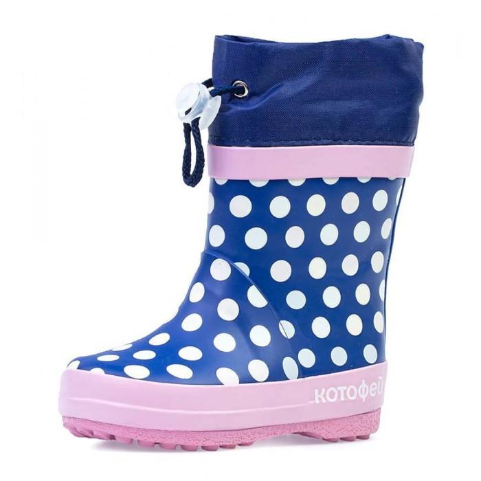 Купить Резиновая обувь, Котофей Сапоги резиновые в горошек для девочки