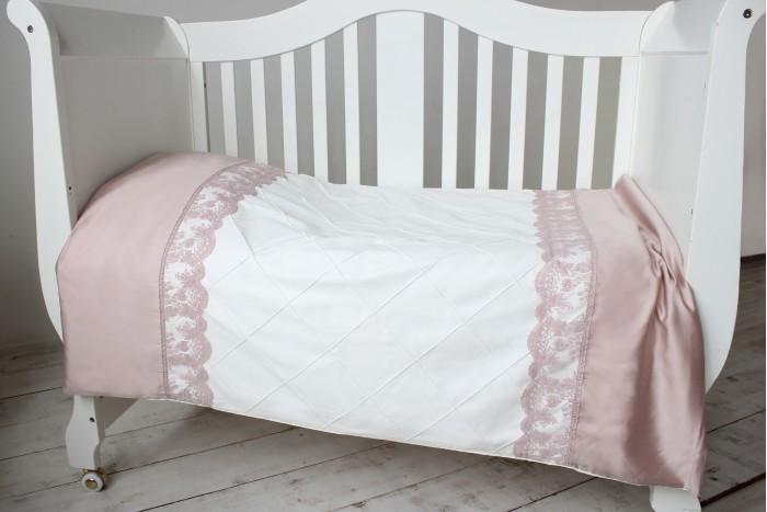 Постельное белье Krisfi 1.5 спальное Пудра (3 предмета) 1099666