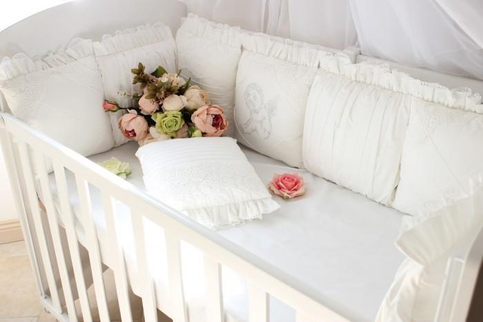 Бортик в кроватку Krisfi Ангел в прямоугольную 120x60 см и овальную 125x75 см 12 подушек
