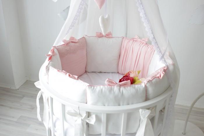 Бортик в кроватку Krisfi Розовый сон 120x60 и 125x75 12 подушек