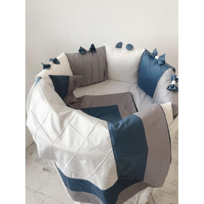 Купить Комплекты в кроватку, Комплект в кроватку Krisfi Космос (17 предметов)