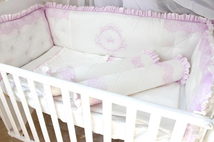 Бортик в кроватку Krisfi Нежность в прямоугольную 120x60 см
