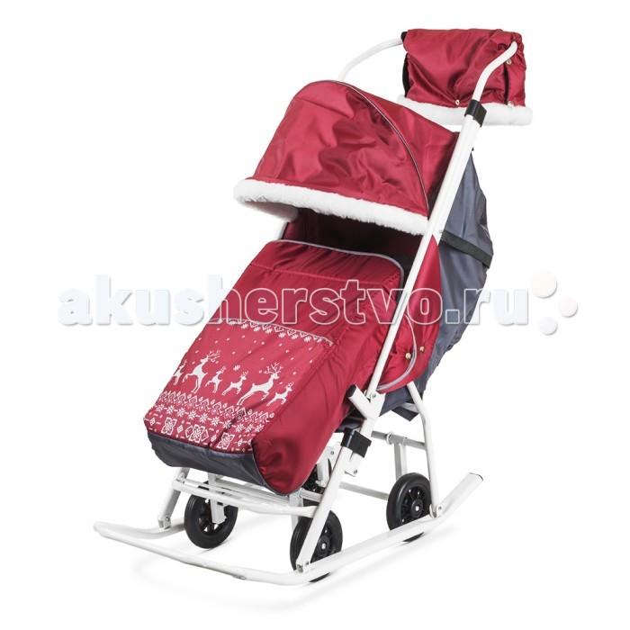 Зимние товары , Санки-коляски Kristy Мое детство Норвежский орнамент с муфтой арт: 206553 -  Санки-коляски