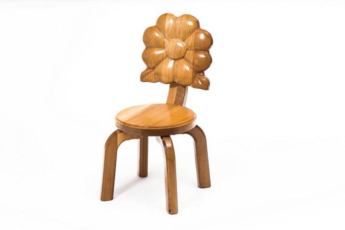 Детские столы и стулья Polli Tolli Детский стульчик Буковка Анютины глазки