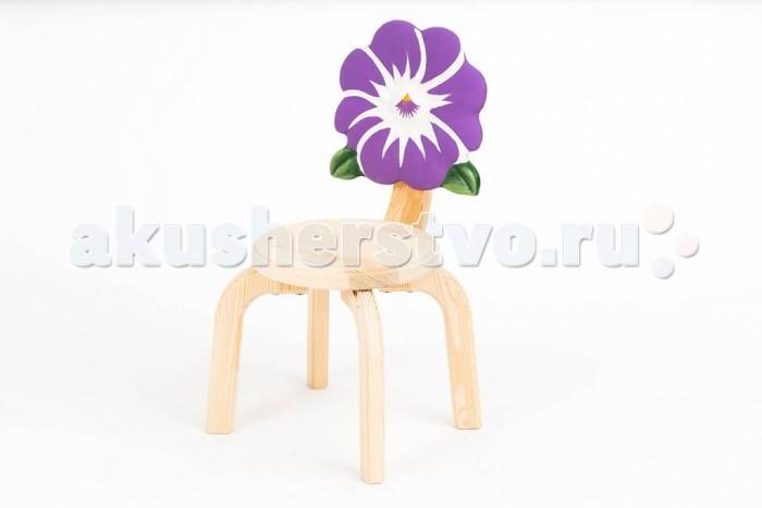 Детские столы и стулья Polli Tolli Детский стульчик Цветочек Анютины глазки