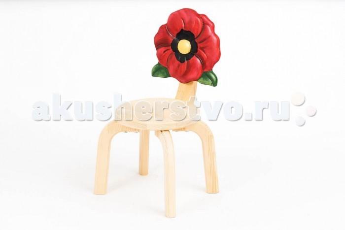 Детские столы и стулья Polli Tolli Детский стульчик Цветочек Мак