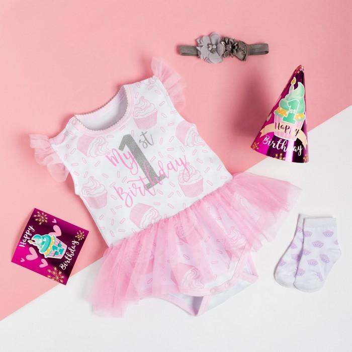 Комплекты детской одежды Крошка Я Комплект (боди, носки) Birthday party