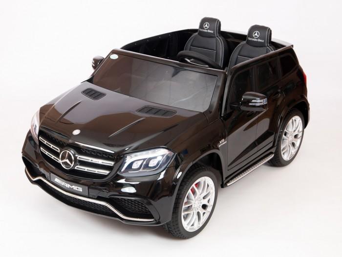 Электромобиль Крутые тачки Mercedes-Benz GLS 63Электромобили<br>Электромобиль Крутые тачки Mercedes-Benz GLS 63 предназначен для детей от года до 8 лет.  Особенности:   Лицензия Полноприводный Двухместный Световые эффекты: фары передние, задние фары, подсветка панели приборов Звуковые эффекты: музыкальный руль - звук клаксона/мелодии заводские  Пульт управления: индивидуальный (настраивается по Bluetooh) Амортизаторы: задние, передние Колеса: каучуковые Скорость: две вперед, одна назад. Коробка переключения - автомат.   Сидение:  двухместное  кожаное, два ремня безопасности. Включение: кнопка  Медиа-панель: SD-вход, USB-вход, mp3-вход Максимальная нагрузка: 40 кг Открываются двери Аккумулятор: 12V/7Ах2  Редуктор: 4х35W.