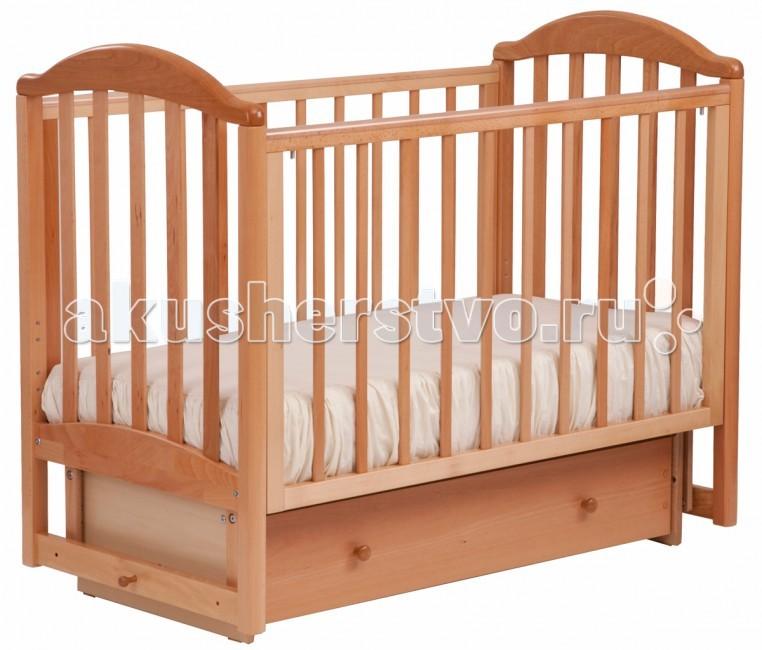 Купить со скидкой Детская кроватка Кубаньлесстрой АБ 17.2 Лилия Люкс маятник поперечный с ящиком