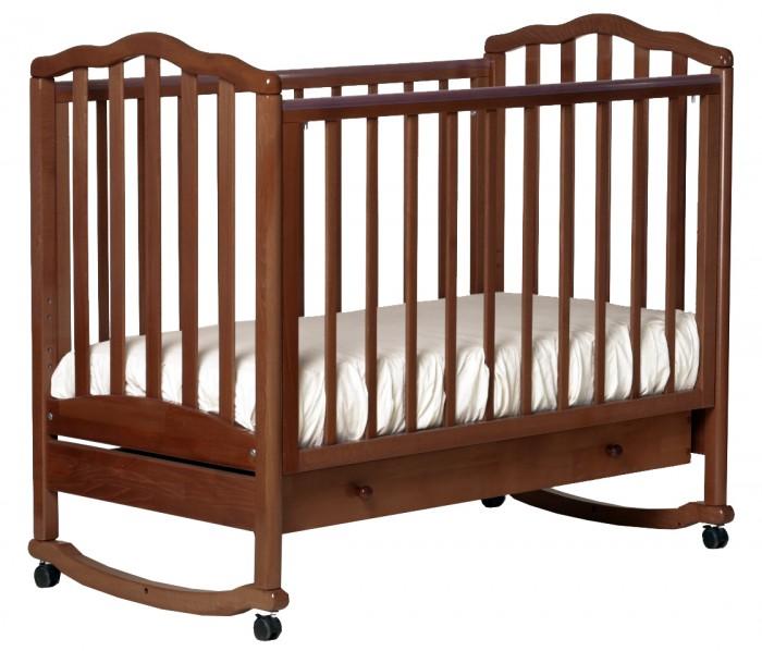 Картинка для Детская кроватка Кубаньлесстрой АБ 19.1 Жасмин качалка с ящиком