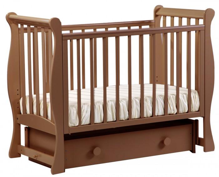 Картинка для Детская кроватка Кубаньлесстрой АБ 21.2 Лаванда маятник поперечный с ящиком