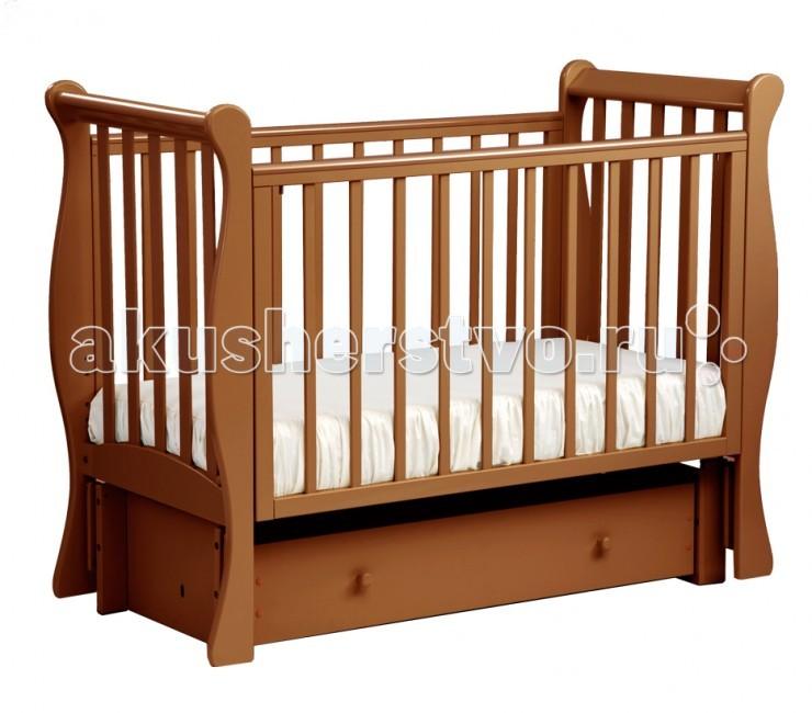 Детские кроватки Кубаньлесстрой АБ 21.3 Лаванда маятник продольный с ящиком детские кроватки фея 603 с ящиком