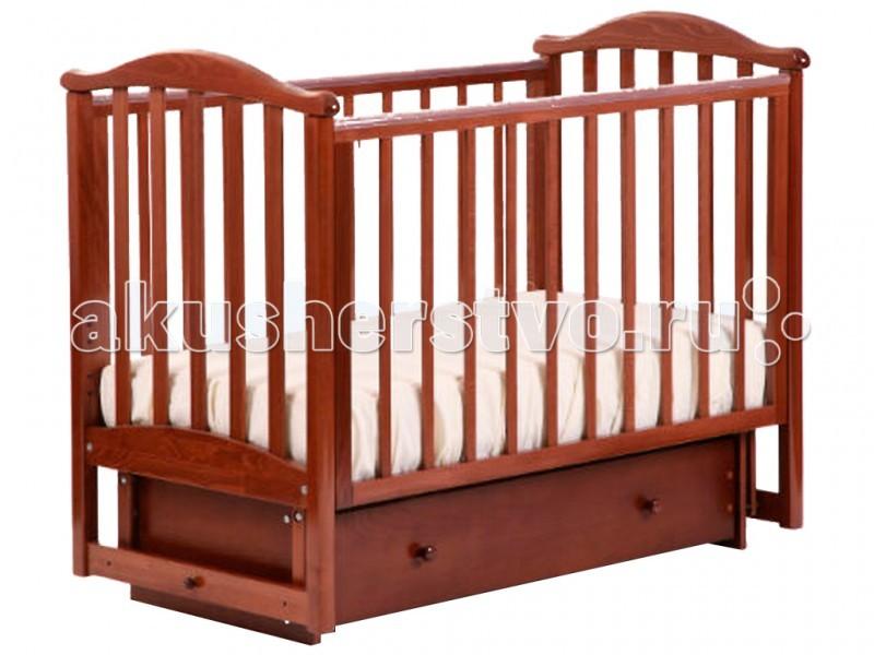 Купить Детские кроватки, Детская кроватка Кубаньлесстрой АБ 25.2 Виола маятник поперечный с ящиком