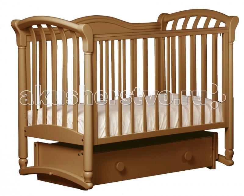 Детская кроватка Кубаньлесстрой БИ 10.4 Азалия маятник универсальный