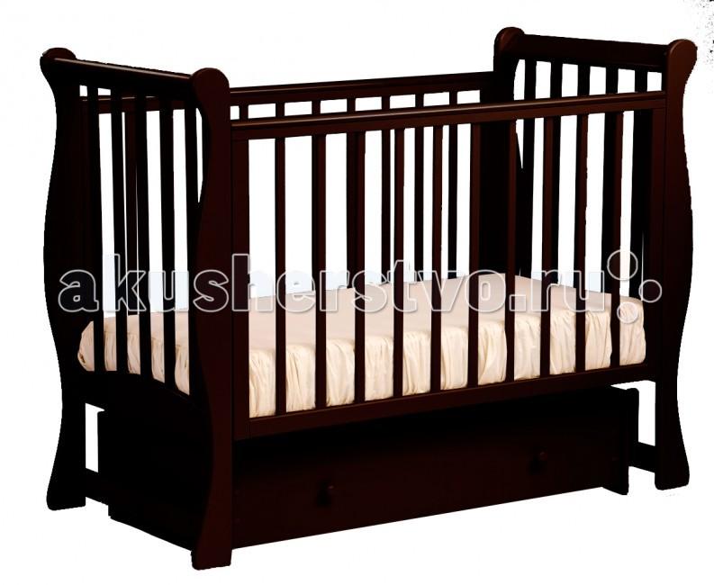 Детские кроватки Кубаньлесстрой БИ 07.2 Ландыш поперечный маятник детская кроватка kito amore с поперечным маятником