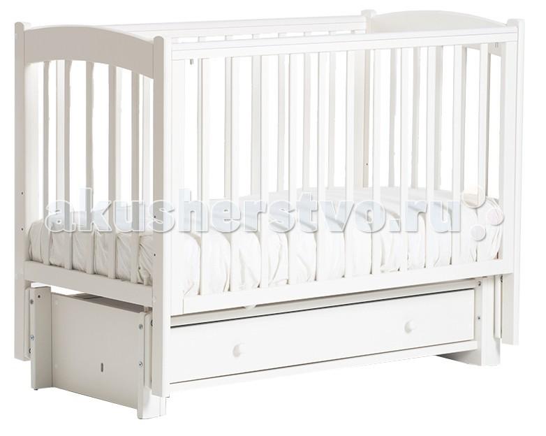 Детская кроватка Кубаньлесстрой БИ 39.3 Кубаночка-3 маятник продольный