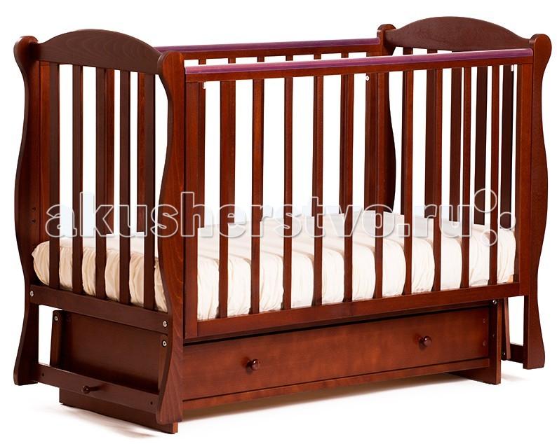 Детская кроватка Кубаньлесстрой БИ 42.2 Кубаночка-6 маятник поперечный