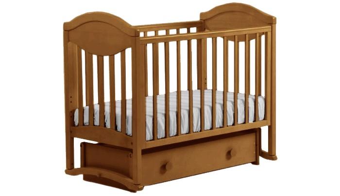 Детская кроватка Кубаньлесстрой Камелия 23.4 маятник универсальный с декором №007  (AБ 23.4)