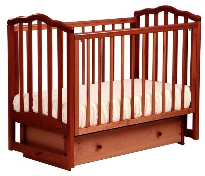 Купить Детские кроватки, Детская кроватка Кубаньлесстрой АБ 19.2 Жасмин маятник поперечный с ящиком