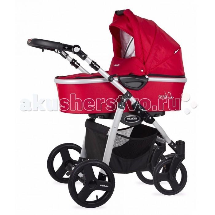 Коляска Kunert Libero 2 в 1Libero 2 в 1Коляска Kunert Libero 2 в 1 – это стильная модель, отличающаяся широким функционалом и универсальностью.   Она подходит и для мальчиков, и для девочек. Может использоваться с рождения и до трехлетнего возраста, пока ребенок не пересядет на другие виды транспорта.  Надувные колеса в сочетании с отличной амортизацией придают этой модели плавный и мягкий ход. При этом коляска легко едет и по парковым тропинкам, и по осенним лужам и даже по зимнему снегу.  Автокресло может использоваться с рождения, что делает се перемещения с ребенком особенно удобными.   Особенности: регулируемая высота ручки от 70 до 113 см, перекидываемая ручка: ребенок едет лицом к Вам либо лицом к улице 5-титочечные ремни безопасности при сидячем положении - защитная дуга-бампер двухсторонний тормоз 3 положения спинки в сидячем положении, вплоть до горизонтального хромированные колеса с эбонитовым покрытием, каучукопластик (изностойкие, не прокалываемые) амортизация на всех колесах большая удобная корзина с рождения до 6 мес. возможно использование люльки-переноски, которая вставляется в коляску Размеры в собранном виде (ШxДxВ): 88 х 65 х 118 см вес 14 кг. Комплектация: дождевик  корзина для покупок  москитная сетка  накидка для ножек  подстаканник<br>