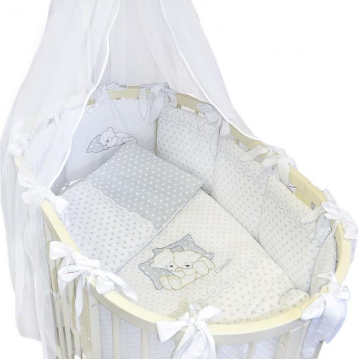 Постельные принадлежности , Комплекты в кроватку Labeille Dolce овал (8 предметов) арт: 480036 -  Комплекты в кроватку