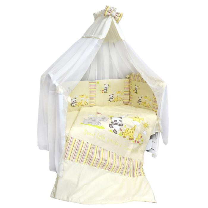 Комплекты в кроватку Labeille Панда с друзьями (7 предметов) электроодеяло gess матрас с подогревом blanket 145 см х 185 см