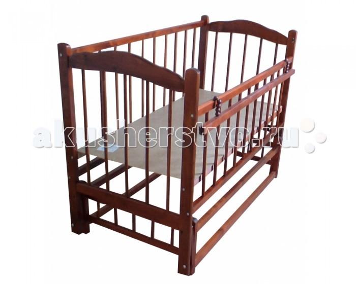 Детская кроватка Ладушка Л-6 маятник поперечныйЛ-6 маятник поперечныйДетская кроватка Ладушка Л-6 маятник поперечный  Комфортная кроватка  для детей от 0 до 5 лет. Изготовлена из безопасных для здоровья малыша материалов.  Детская кроватка «Ладушка» Л-6 изготовлена из безопасных для здоровья малыша материалов. Используется древесина сосны. Кроватку можно установить на колёса, для удобного перемещения. Ложе кроватки, размером 60 x 120 см, регулируется по высоте в двух положениях. Современный лаконичный дизайн и спокойные тона делают кроватку подходящей к любому интерьеру.  Особенности: Комфортная кроватка для детей от 0 до 5 лет. Изготовлена из безопасных для здоровья малыша материалов. Маятниковый механизм поперечного качания. Спинки и стенки - реечные. Ложе регулируется по высоте в двух положениях. Используется древесина сосны. Съёмные колёса, маятниковый механизм поперечного качания, без ящика. Откидная планка. Размер спального места - 120&#215;60 см Спинки и стенки - реечные  Днище сплошное, 2 уровня положения ложа<br>