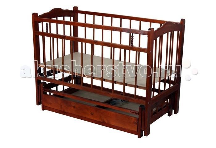 Детская кроватка Ладушка Л-7 с ящиком маятник поперечный