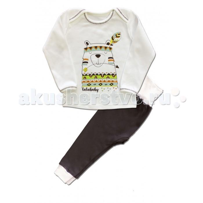 Пижамы и ночные сорочки LalaBaby Пижама длинный рукав (кофточка и штанишки) Индейцы ночные сорочки и рубашки