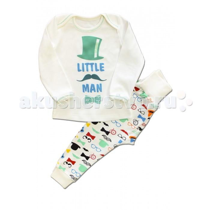 Пижамы и ночные сорочки LalaBaby Пижама для мальчика длинный рукав (кофточка и штанишки) Little Men