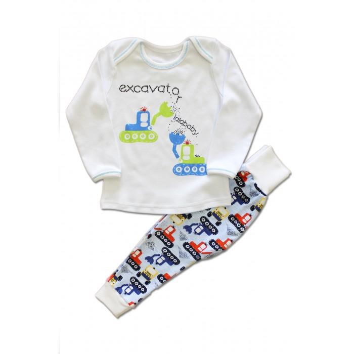 Пижамы и ночные сорочки LalaBaby Пижама для мальчика длинный рукав (лонгслив и штанишки) Ecavator