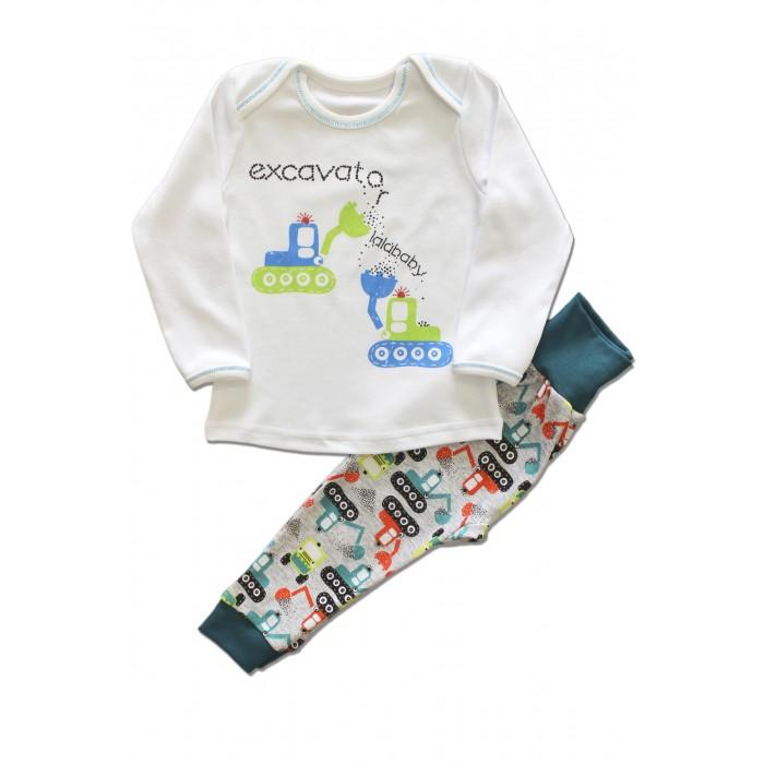 Пижамы и ночные сорочки LalaBaby Пижама для мальчика длинный рукав (лонгслив и штанишки) Ecavator ночные сорочки и рубашки