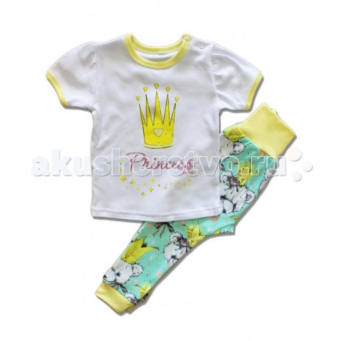 Пижамы и ночные сорочки LalaBaby Пижама (футболка и штанишки) Корона автомобильную тв антенну корона