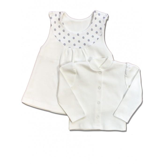 Комплекты детской одежды LalaBaby Комплект Серебристые горошки 1311-071 платья lalababy платье