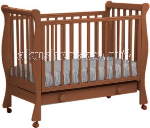 Детская мебель , Детские кроватки Кубаньлесстрой АБ 21.1 Лаванда с ящиком арт: 10458 -  Детские кроватки