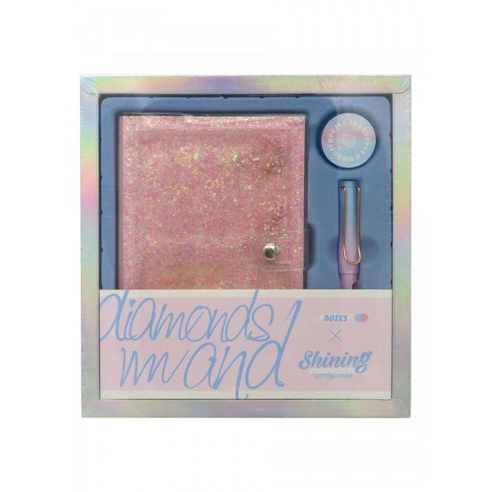 Картинка для Канцелярия Languo Канцелярский набор Diamonds блокнот ручка и скотч
