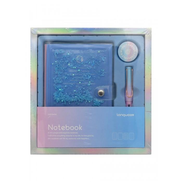 Канцелярия, Languo Канцелярский набор Pearl блокнот ручка и скотч  - купить со скидкой