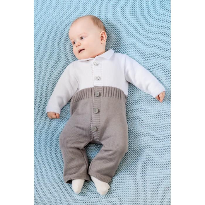 Детская одежда , Комбинезоны и полукомбинезоны Лапушка Комбинезон для мальчика Вязанные изделия арт: 448044 -  Комбинезоны и полукомбинезоны