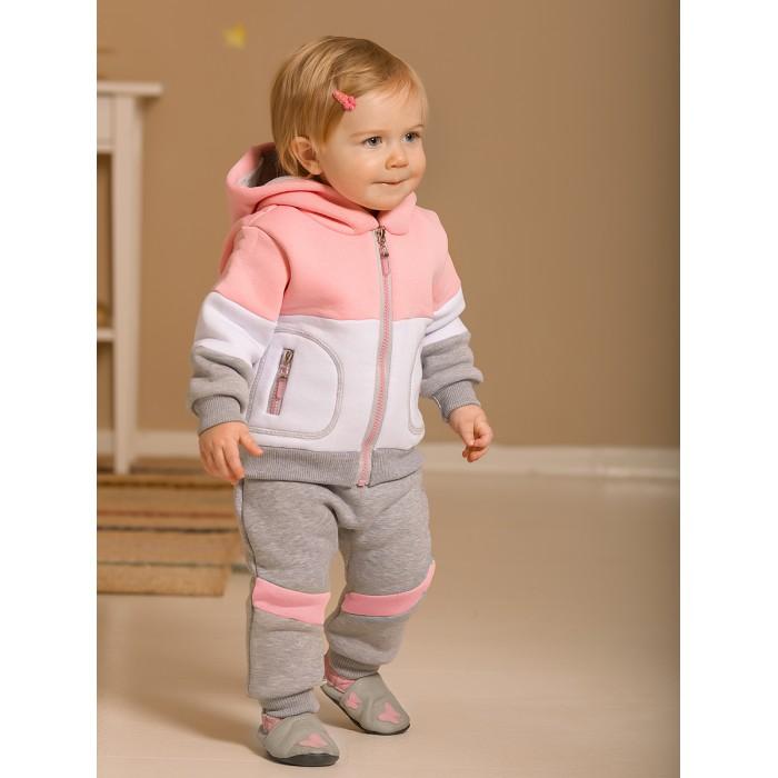 Комплекты детской одежды Лапушка Костюм (кофта с капюшоном, брюки) Футер 104ф