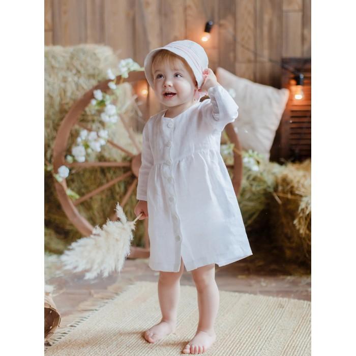 Платья и сарафаны Лапушка Платье для девочки Лён детские платья и сарафаны playtoday платье для девочки летний букет 982002