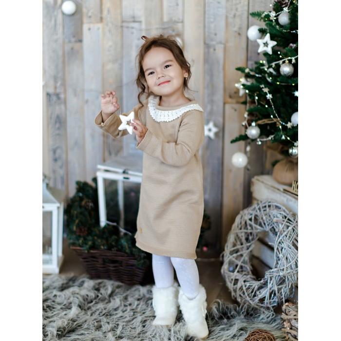 Лапушка Платье для девочки с кружевом в206-хл