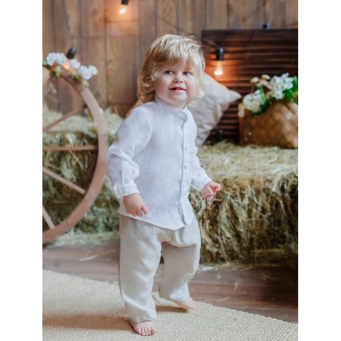 Лапушка Рубашка с длиным рукавом Лён фото