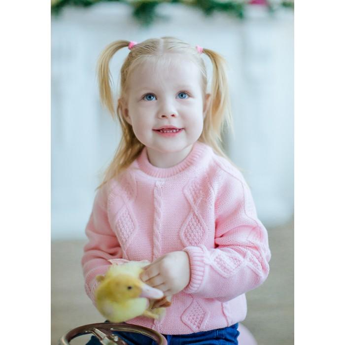 Детская одежда , Джемперы, свитера, пуловеры Лапушка Свитер с длинным рукавом Вязанные изделия арт: 367878 -  Джемперы, свитера, пуловеры